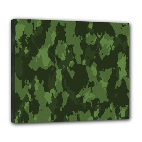 Camouflage Green Army Texture Deluxe Canvas 24  x 20