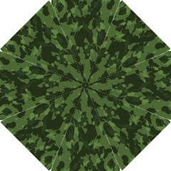 Camouflage Green Army Texture Hook Handle Umbrellas (Small)