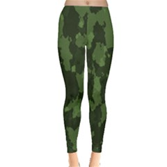 Camouflage Green Army Texture Leggings