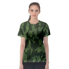 Camouflage Green Army Texture Women s Sport Mesh Tee