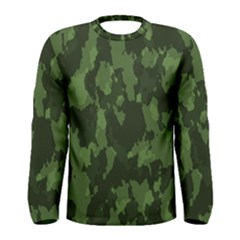 Camouflage Green Army Texture Men s Long Sleeve Tee
