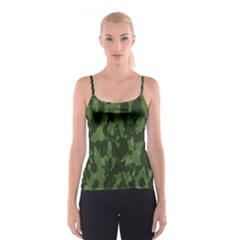 Camouflage Green Army Texture Spaghetti Strap Top