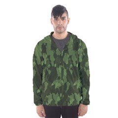 Camouflage Green Army Texture Hooded Wind Breaker (men)