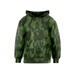 Camouflage Green Army Texture Kids  Pullover Hoodie