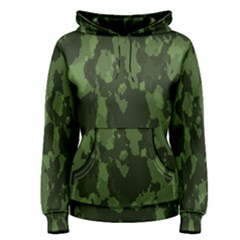 Camouflage Green Army Texture Women s Pullover Hoodie