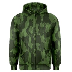 Camouflage Green Army Texture Men s Zipper Hoodie