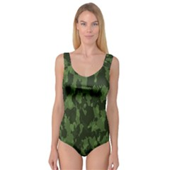 Camouflage Green Army Texture Princess Tank Leotard