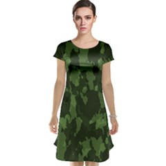 Camouflage Green Army Texture Cap Sleeve Nightdress