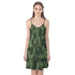 Camouflage Green Army Texture Camis Nightgown