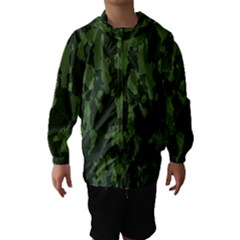 Camouflage Green Army Texture Hooded Wind Breaker (kids)