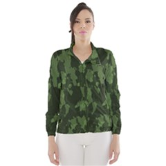 Camouflage Green Army Texture Wind Breaker (women)