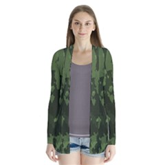 Camouflage Green Army Texture Cardigans