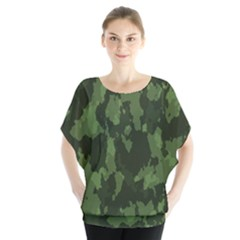 Camouflage Green Army Texture Blouse