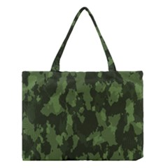 Camouflage Green Army Texture Medium Tote Bag