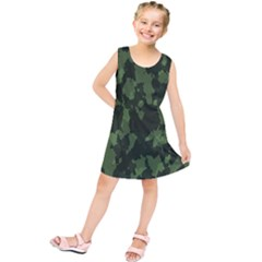 Camouflage Green Army Texture Kids  Tunic Dress