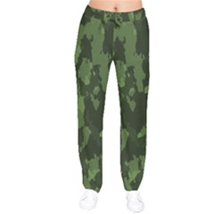 Camouflage Green Army Texture Drawstring Pants