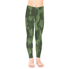 Camouflage Green Army Texture Kids  Leggings