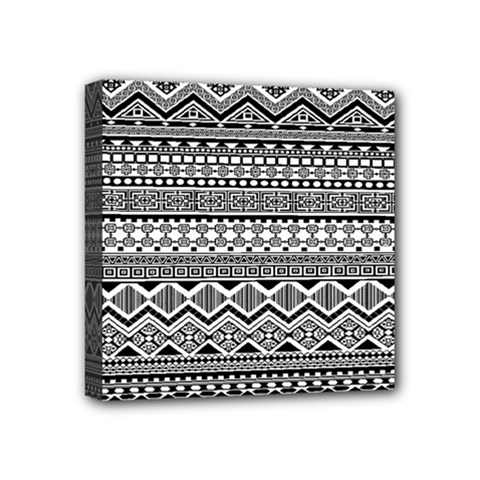 Aztec Pattern Design Mini Canvas 4  x 4