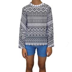 Aztec Pattern Design Kids  Long Sleeve Swimwear