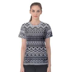 Aztec Pattern Design Women s Sport Mesh Tee