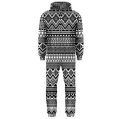 Aztec Pattern Design Hooded Jumpsuit (Men)