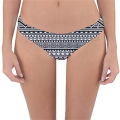 Aztec Pattern Design Reversible Hipster Bikini Bottoms