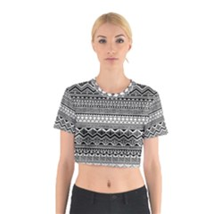 Aztec Pattern Design Cotton Crop Top