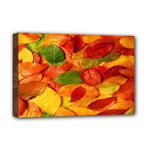 Leaves Texture Deluxe Canvas 18  X 12