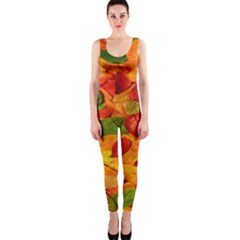 Leaves Texture Onepiece Catsuit