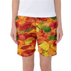 Leaves Texture Women s Basketball Shorts