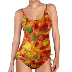 Leaves Texture Tankini