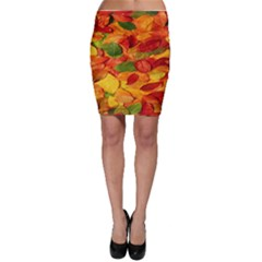 Leaves Texture Bodycon Skirt