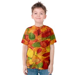 Leaves Texture Kids  Cotton Tee