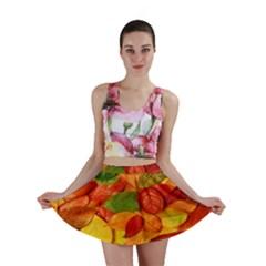 Leaves Texture Mini Skirt