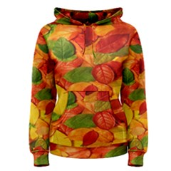 Leaves Texture Women s Pullover Hoodie