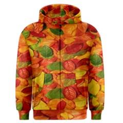 Leaves Texture Men s Zipper Hoodie