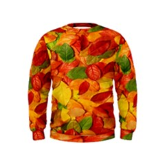 Leaves Texture Kids  Sweatshirt