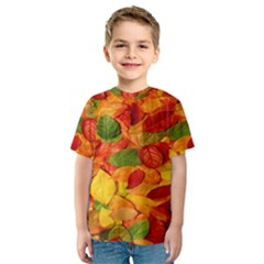 Leaves Texture Kids  Sport Mesh Tee
