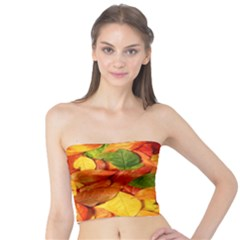 Leaves Texture Tube Top