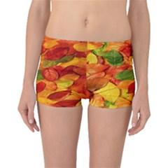 Leaves Texture Boyleg Bikini Bottoms