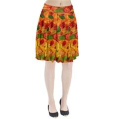 Leaves Texture Pleated Skirt