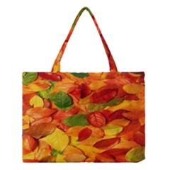 Leaves Texture Medium Tote Bag