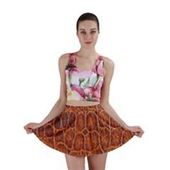 Crocodile Skin Texture Mini Skirt