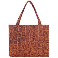 Crocodile Skin Texture Mini Tote Bag