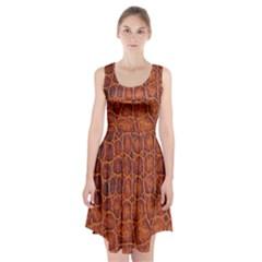 Crocodile Skin Texture Racerback Midi Dress