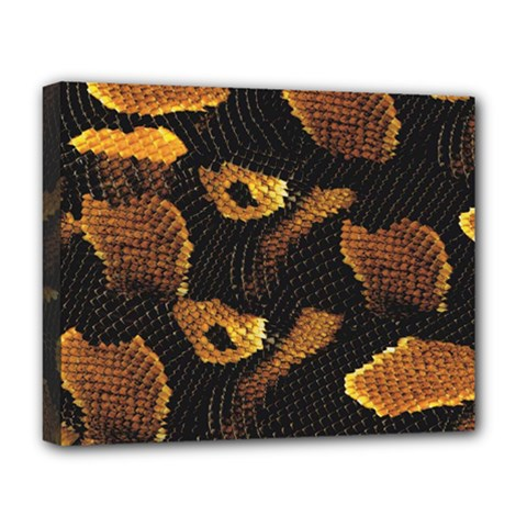 Gold Snake Skin Deluxe Canvas 20  X 16