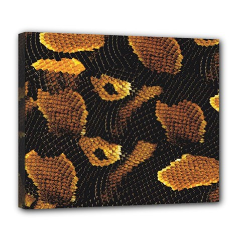 Gold Snake Skin Deluxe Canvas 24  X 20