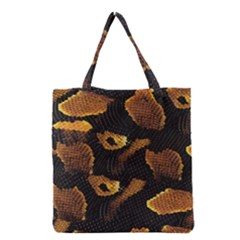 Gold Snake Skin Grocery Tote Bag