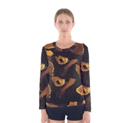 Gold Snake Skin Women s Long Sleeve Tee