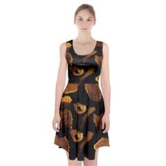 Gold Snake Skin Racerback Midi Dress